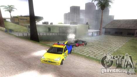 Toyota Avanza Towtruck для GTA San Andreas вид сзади