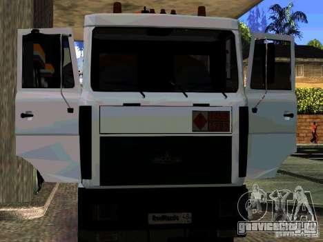МАЗ 533702 Бензовоз для GTA San Andreas вид сверху