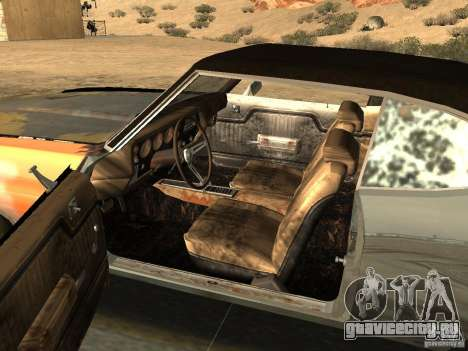 Chevrolet Chevelle Rustelle для GTA San Andreas вид сзади слева