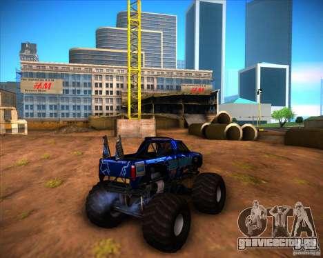 Monster Truck Blue Thunder для GTA San Andreas вид справа