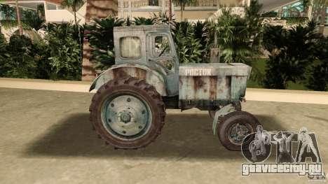 Трактор Т-40 для GTA Vice City вид слева