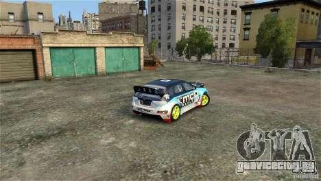 Subaru Impreza WRX STI Rallycross KMC Wheels для GTA 4 вид сбоку