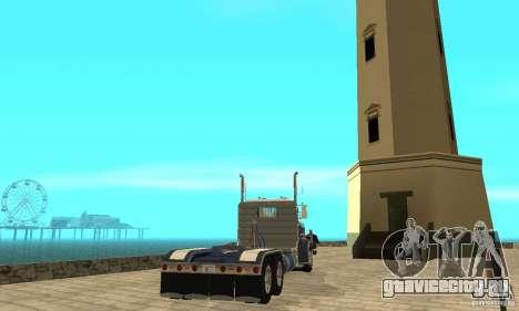 Peterbilt 359 1978 для GTA San Andreas вид сзади слева