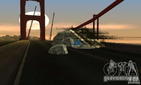 Разрушенный мост в San Fierro для GTA San Andreas второй скриншот