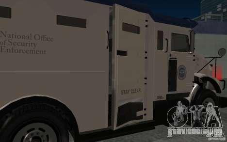 Securicar из GTA IV для GTA San Andreas вид изнутри