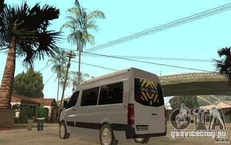 Volkswagen Crafter school bus для GTA San Andreas вид сзади слева