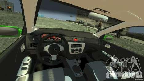 Mitsubishi Lancer Evo IX Tuning для GTA 4 вид справа