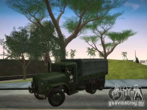 AM General M35A2 для GTA San Andreas вид сзади слева