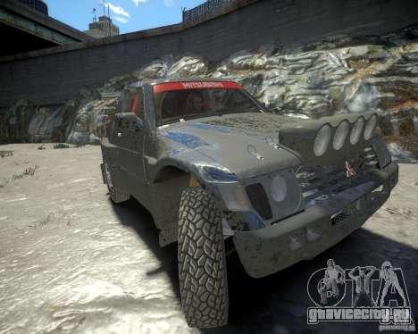 Mitsubishi Pajero Proto Dakar EK86 для GTA 4 вид слева