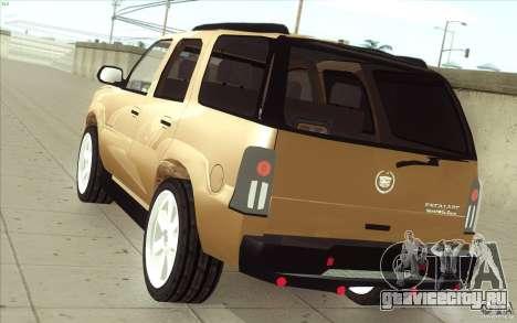 Cadillac Escalade 2004 для GTA San Andreas вид сзади слева
