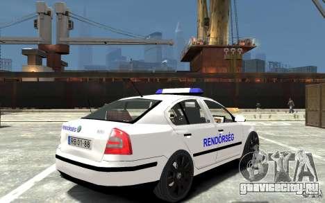 Skoda Octavia 2005 Hungarian Police для GTA 4 вид справа