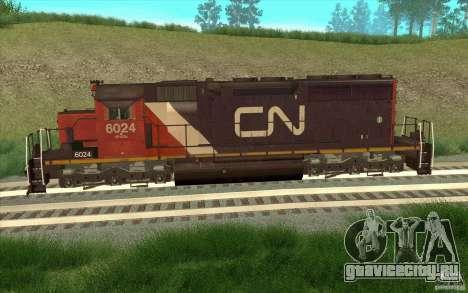 Canadian National SD40U для GTA San Andreas вид слева