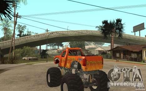 El Toro Loco для GTA San Andreas вид сзади слева