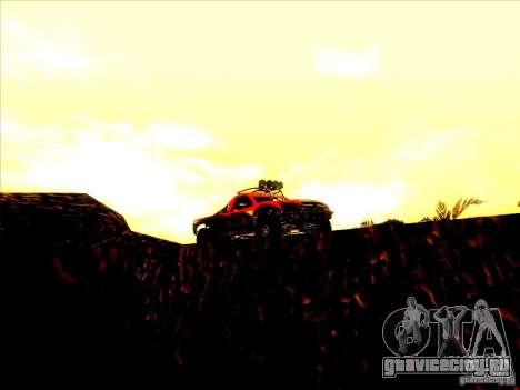 Toyota Tundra Rally для GTA San Andreas вид изнутри