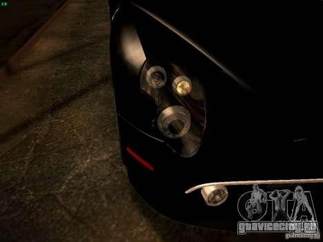 Alfa Romeo 8C Spider 2012 для GTA San Andreas вид сверху