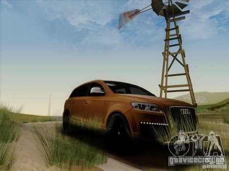 Audi Q7 2010 для GTA San Andreas вид сзади