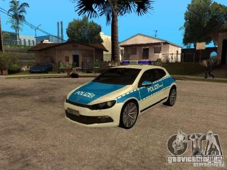 Volkswagen Scirocco German Police для GTA San Andreas