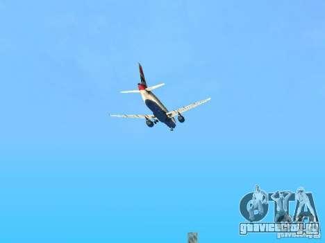 Airbus A320 British Airways для GTA San Andreas вид сверху