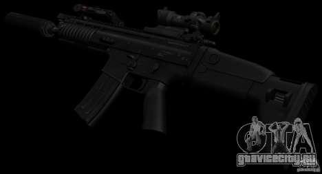 SCAR-L black для GTA San Andreas третий скриншот