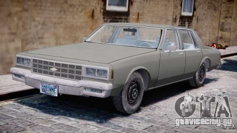Chevrolet Impala 1983 [Final] для GTA 4 вид слева