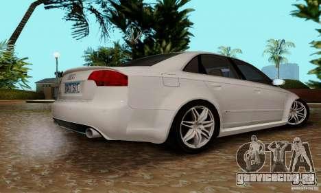 Audi RS4 2007 для GTA San Andreas вид изнутри