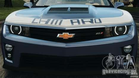 Chevrolet Camaro ZL1 2012 v1.0 Smoke Stripe для GTA 4 колёса