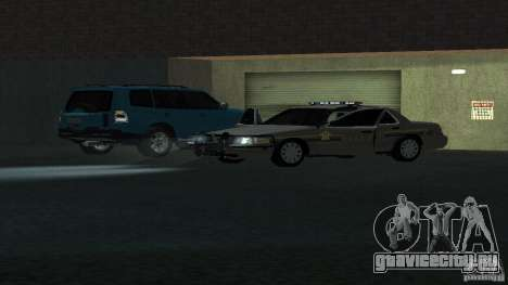 Ford Crown Victoria для GTA San Andreas вид сзади