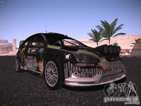 Ford Focus RS Monster Energy для GTA San Andreas вид слева