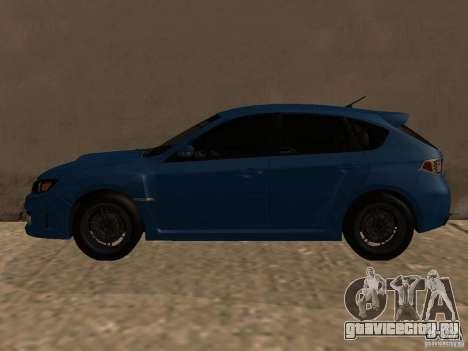 Subaru Imreza WRX для GTA San Andreas вид сзади слева