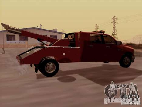 Dodge Ram 3500 TowTruck 2010 для GTA San Andreas вид справа