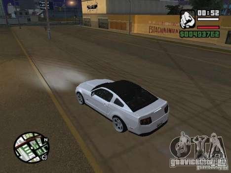 Ford Mustang GT B&W для GTA San Andreas вид сзади слева