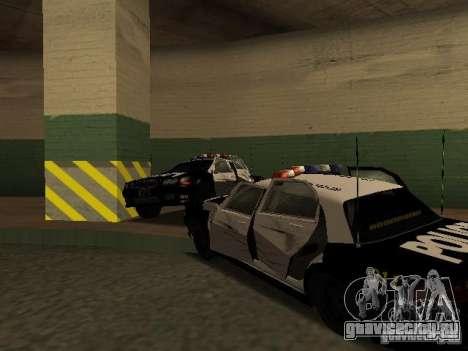 Police Civic Cruiser NFS MW для GTA San Andreas вид изнутри