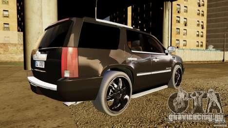 Cadillac Escalade 2007 v3.0 для GTA 4 вид сзади слева