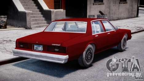 Chevrolet Impala 1983 v2.0 для GTA 4 вид сбоку