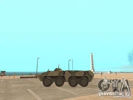 BTR 80 для GTA San Andreas вид слева