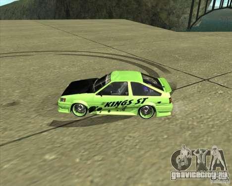 Toyota AE86 Levin для GTA San Andreas вид слева
