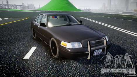 Ford Crown Victoria 2003 v2 FBI для GTA 4 вид сзади