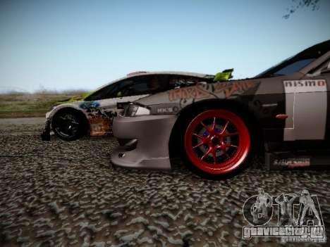 Nissan Silvia S14 Hell для GTA San Andreas вид изнутри