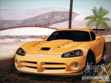 Dodge Viper SRT-10 ACR для GTA San Andreas вид сзади слева