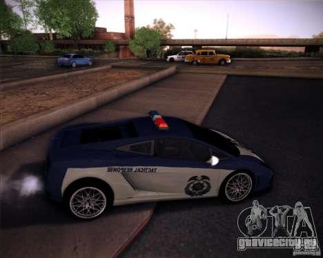 Lamborghini Gallardo LP560-4 Undercover Police для GTA San Andreas вид сзади слева