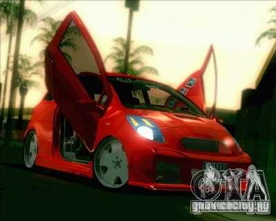 Toyota Yaris бордовый для GTA San Andreas