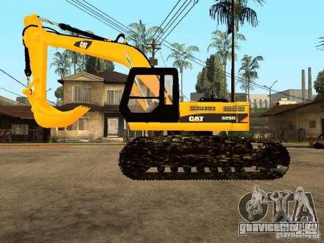 Экскаватор CAT для GTA San Andreas вид слева