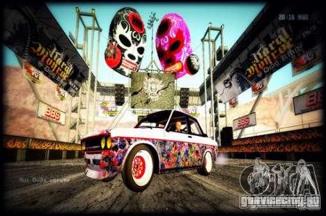 Datsun 510 Monster Energy для GTA San Andreas вид сзади слева