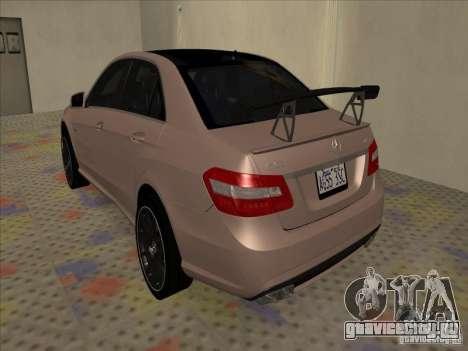 Mercedes-Benz E63 AMG Black Series Tune 2011 для GTA San Andreas вид справа