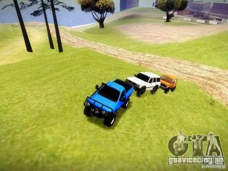 Chevrolet Silverado OFFRoad для GTA San Andreas вид изнутри