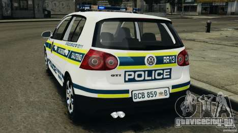 Volkswagen Golf 5 GTI South African Police [ELS] для GTA 4 вид слева