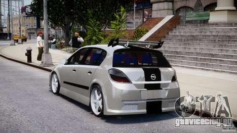 Opel Astra 1.9 TDI 2007 для GTA 4 вид сзади слева