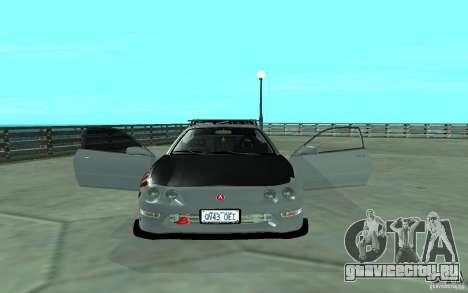 Acura Integra Type-R для GTA San Andreas вид изнутри