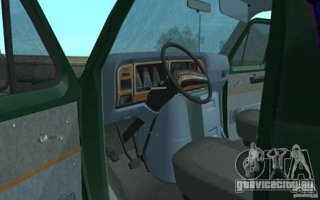 Ford E-150 Short Version v2 для GTA San Andreas вид изнутри