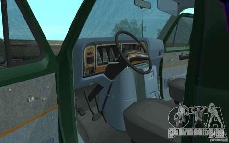 Ford E-150 Short Version v2 для GTA San Andreas вид изнутри